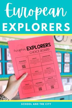 This is an editable choice board with differentiated activities focused on European exploration of North America. 18 unique activities were designed to engage your students while also reinforcing social studies content. You can edit the choice board to fit the needs of your elementary classroom. Great for early finishers, homework, or a worksheet alternative! #socialstudies #choiceboard #explorers #3rdgrade #4thgrade