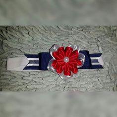 Cintillo/diadema azul,  blanco y rojo  Bs.  3.000