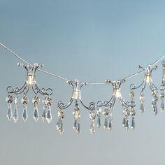 Dangling Beads String Light  Silver