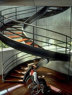 DNA spiral stairs in Gattaca (1997) directed by Andrew Niccol
