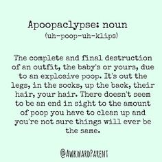 #apoopaclypse #momlife #parenting #parenthood #somuchpoop #parentingmeme #meme #awkwardparent