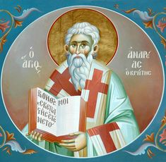 More Saints of the Day for Monday, July 2016 - St. Andrew of Crete_the author of the great Canon of Orthodox Joshua And Caleb, Becoming A Monk, Catholic Online, Byzantine Icons, Saint Quotes, Adam And Eve, Orthodox Icons, Religious Art, Lent