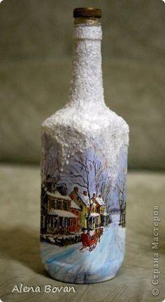 ДЕКУПАЖ  бутылочки новые и старые... фото 15