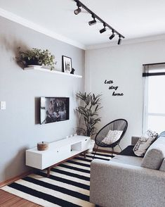 Cheap Home Decor .Cheap Home Decor Small Apartment Living, Living Room Tv, Small Living Rooms, Living Room Interior, Home And Living, Living Room Designs, Tv Room Small, Coffee Table For Small Living Room, Small Spaces