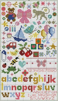 Craftdrawer Crafts: Free Cross Stitch Pattern Small Baby Motifs