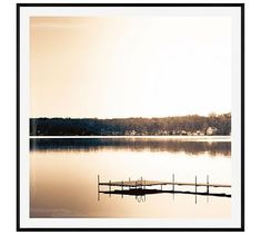 """Lakeside by Cindy Taylor, 48 x 48"""", Wood Gallery, Black, Mat"""