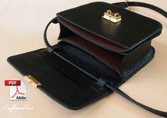 Boxy Bag. Leather Bag. PDF Pattern. Bag Pattern Free, Wallet Pattern, Pdf Patterns, Craft Patterns, How To Make Leather, Leather Bag Pattern, Stitch Lines, Leather Craft, Leather Wallet