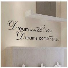 Dream Come True Wall Art Quote Home Sticker Vinyl Decal Room Decor Kid Removable | eBay