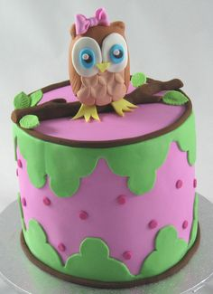 Owl Baby Naming Cake by www.cakesisters.com.au