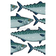 Tasty mackerel pattern by smalldrawing