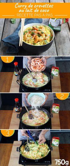 Shrimp Recipes 68846 Shrimp curry with coconut milk Easy Smoothie Recipes, Easy Smoothies, Good Healthy Recipes, Snack Recipes, Milk Recipes, Shrimp Recipes For Dinner, Shrimp Recipes Easy, Seafood Recipes, Seafood Pasta