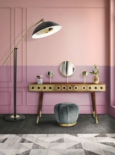 Mood Board: Pink Contemporary Lamps and Cool Ideas for Your Home | www.contemporarylighting.eu | #midcentury #contemporarylighting #lightingdesign