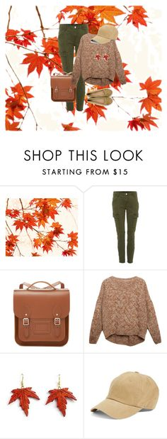 """""""It's Fall"""" by appljam on Polyvore featuring J Brand, The Cambridge Satchel Company, Relaxfeel and American Needle"""