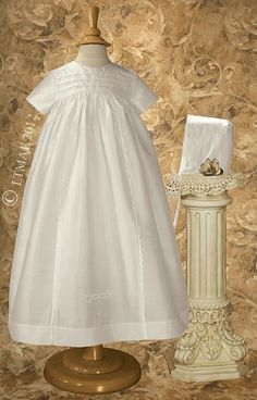 coolLove baby stuff? - Dupioni Silk Family Christening Gown with Embroidered Celtic Cross (0-3 month)