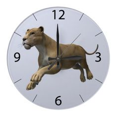 #Lioness #Wall #Clocks