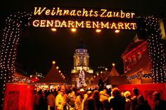 Weihnachts Zauber Gendarmenmarkt in Berlin welcomes holiday visitors with the promise of sweet confections, scrumptious morsels and spicy mu...