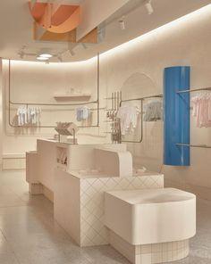 Baby Store Display, Store Displays, Retail Displays, Merchandising Displays, Window Displays, Clothing Store Design, Retail Store Design, Retail Stores, Retail Interior