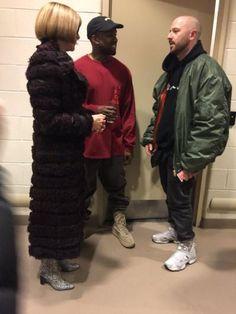 Anna Wintour, Kanye West & Demna Gvasalia