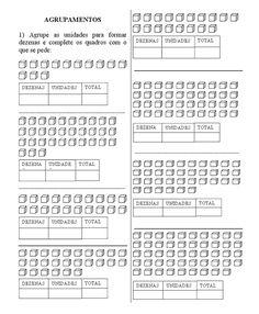 15 Atividades unidade e dezena para imprimir Math Numbers, Periodic Table, Download, Maths, Professor, Bodies, Nova, Activities For Students, Place Value Chart