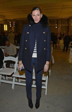 jenna lyons style   Jenna Lyons - Altuzarra - Front Row - Fall 2013 Mercedes-Benz Fashion ...