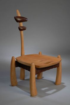 Dino chair which designed by Danish designer.  Designer used prehistoric natural shapes on the chair.