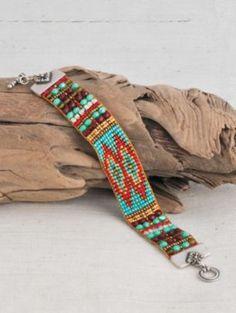 Hand-loomed beaded bracelet by Adonnah Langer