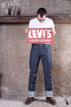 Vintage Jeans, Vintage Outfits, Vintage Clothing, Raw Denim, Denim Men, Red Wing Boots, Men's Leather Jacket, Tailored Shirts, Levi Strauss
