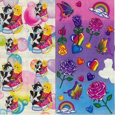 Lisa Frank stickers from the 1980's... loved stickers... still have a sticker book at home!
