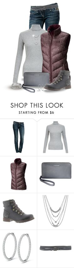 """""""vest"""" by kat620 ❤ liked on Polyvore featuring Rock Revival, Mountain Hardwear, Tucano, Timberland, Lucky Brand, Twin-Set and Worthington"""