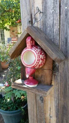Tea time bird house made by me.