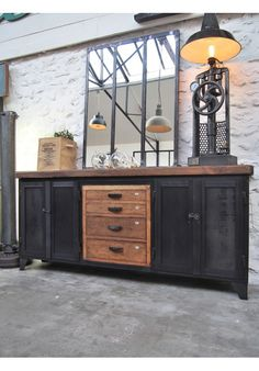 enfilade industrielle vers 1940 id es pour la maison pinterest. Black Bedroom Furniture Sets. Home Design Ideas