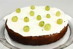 Stikkelsbærkage en opskrift fra Alletider kogebog Cheesecake, Desserts, Food, Tailgate Desserts, Deserts, Cheesecakes, Essen, Postres, Meals
