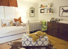 Like the idea of a day bed with a trundle bed for in a nursery. So much easier to move the baby into a pack n play in the parents room and let guests have beds and their own room!