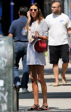 chungarees:  Alexa Chung out and about, August 2014