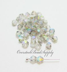 20 Silver Black Diamond AB Crystal Beads by OverstockBeadSupply, $1.85