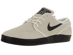 Nike Men's Lunar Stefan Janoski Summit White/Black Skate Shoe 10 Men US: Water resistant nubuck upper 3M reflective piping & swoosh…