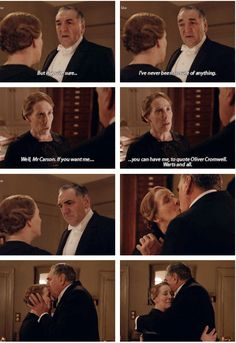 "Downton Abbey Season 6 ...""Well, Mr Carson, if you want me you can have me......"" .."