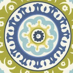 for the ottomans? too much? Lime Solar Flair Fabric by the Yard | Carousel Designs