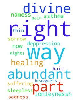 Abundant divine healing in every way part of me right - Abundant divine healing in every way part of me right now no more deppression no more heavyness no more suffering pain sadness sorrow lonleynessh thin hair asthma sleepless nights in Jesus namess Posted at: https://prayerrequest.com/t/Hzu #pray #prayer #request #prayerrequest