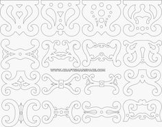 Footstool leg scroll saw patterns