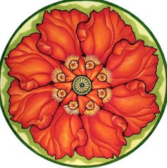 Poppy Mandala от hollizollinger на Etsy