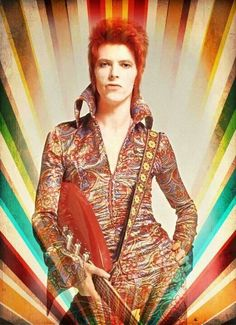David Bowie as Ziggy Stardust in all his glory (please follow minkshmink on pinterest)