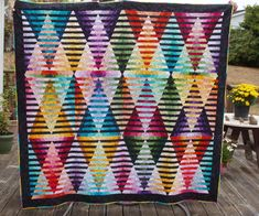 September, 2012 The Great Illusion Quilt that I made my grandson for his Strip Quilts, Quilt Blocks, Optical Illusion Quilts, Optical Illusions, Amy Butler Fabric, Bargello Quilts, Quilting Board, Crochet Afgans, Textile Fiber Art