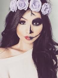 Image result for skeleton makeup half face