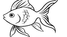 Шаблон рыбка золотая - аппликация из цветной бумаги (Мастер-класс)