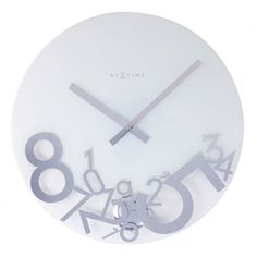 The Dropped has numbers which are printed in mirror style and a polished pendulum. The bottom is transparent and the top white. This is a modern clock which apart from telling time will enrich anyone's home.