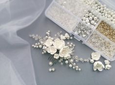 Pearl Bridal hair comb Wedding hair comb Bridal от NevaBridal