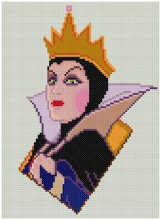 PDF Cross Stitch pattern 0004.Queen Snow White and by PIXcross