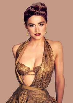 Madonna by Francesco Scavullo- gold