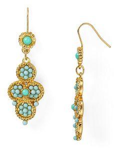 Carolee Linear Flower Drop Earrings | Bloomingdale's